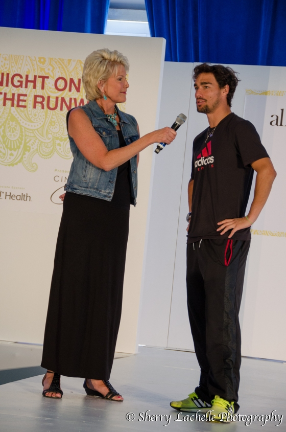 Cammie Dierking interviewing Fabio Fogini (Image: Sherry Lachelle Photography)